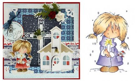 DDS3325 ~ CHRISTMAS DAISY ~ Don & Daisy ~  Marianne Designs Clear stamp